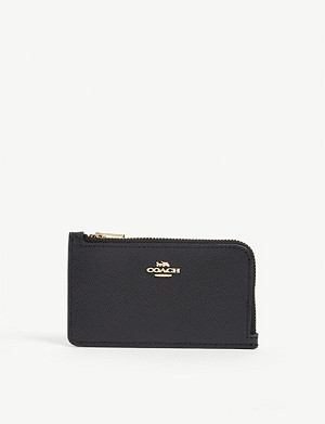 COACH Logo-print leather card holder
