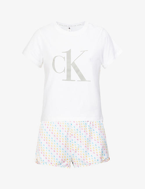 CALVIN KLEIN: Pride stretch-cotton pyjama set