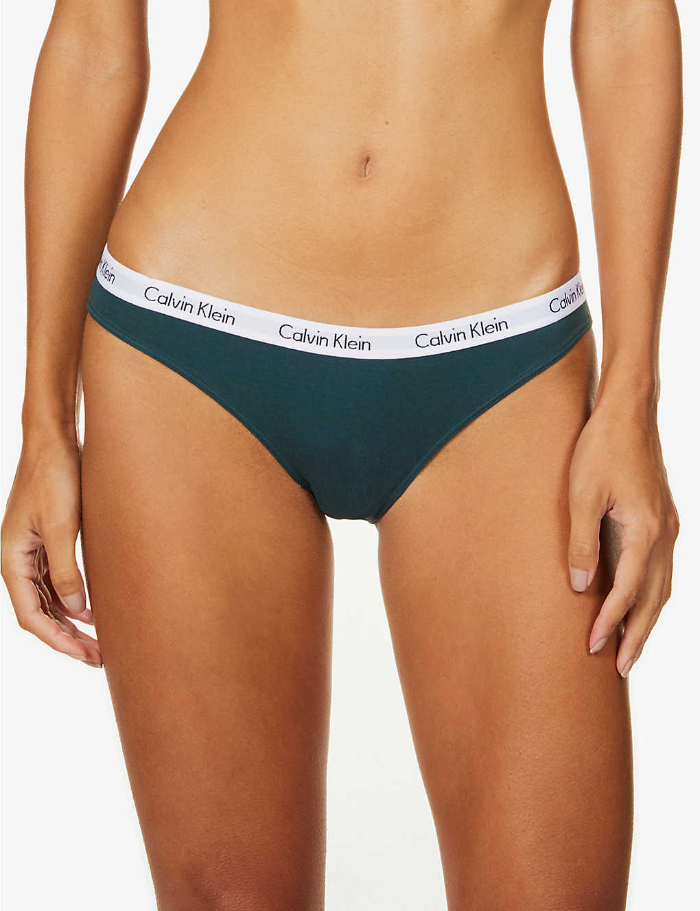 CALVIN KLEIN: Carousel stretch-cotton bikini briefs
