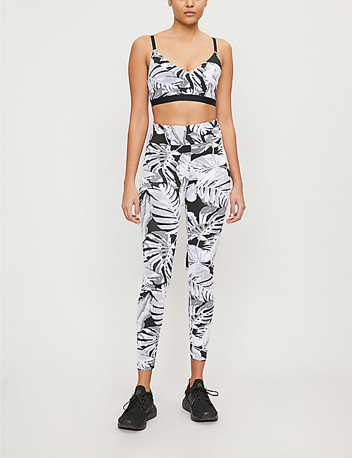 KORAL Drive Paradise high-rise stretch-jersey leggings