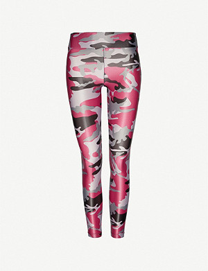 KORAL Camouflage-print Lustrous high-shine stretch-jersey leggings