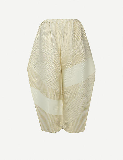 ISSEY MIYAKE: Sashiko high-rise wide knitted trousers