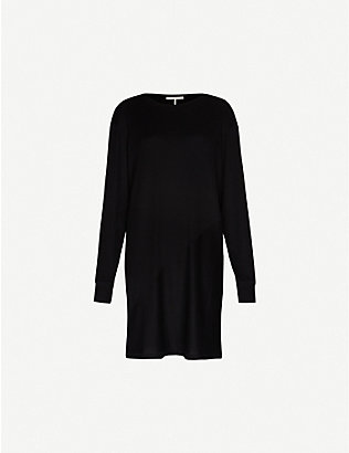 RAG & BONE: Hudson V-neck stretch-knit midi dress
