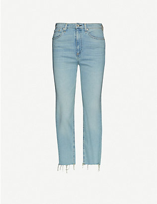 RAG & BONE: Nina straight-leg high-rise stretch-denim jeans