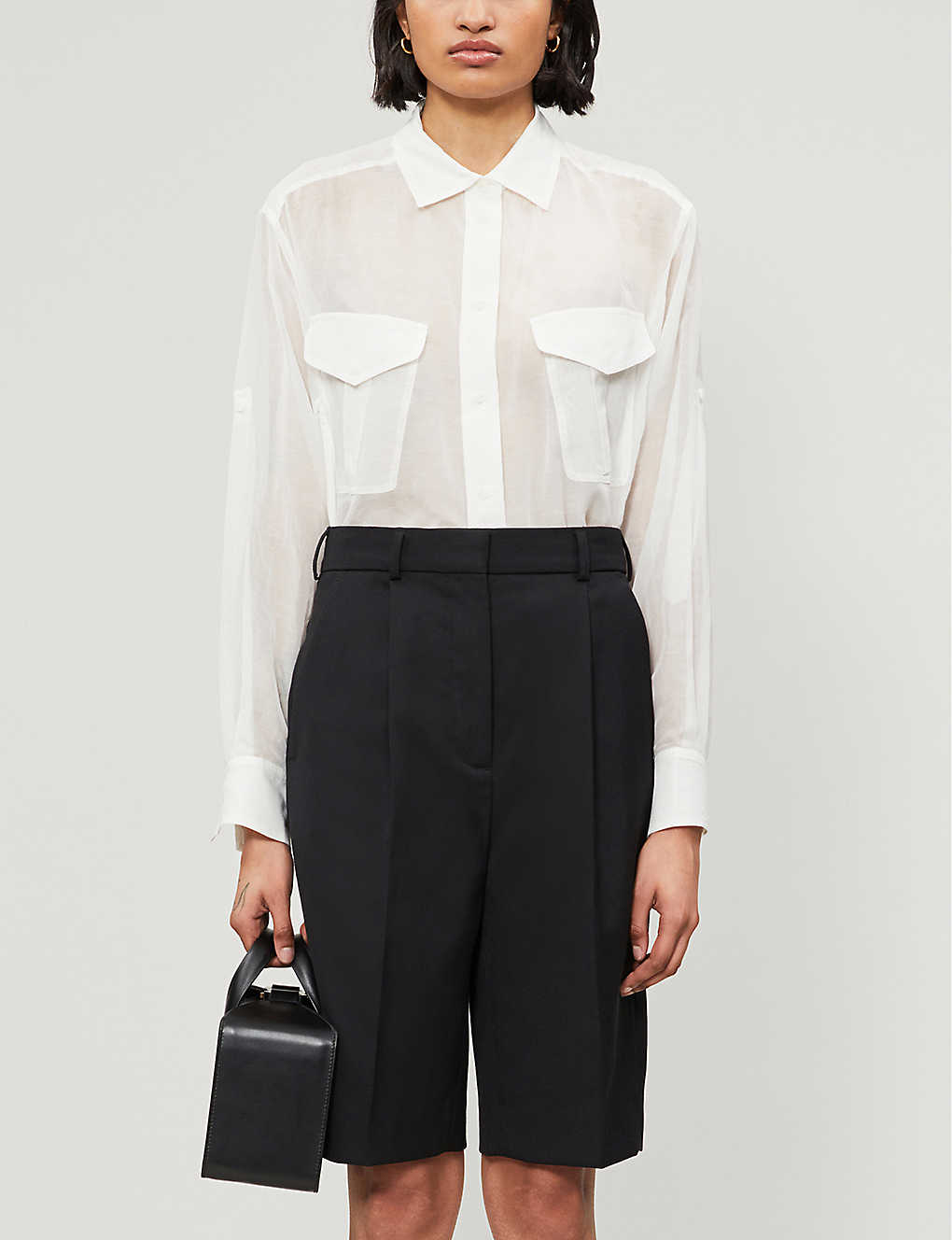 RAG & BONE: Florian cotton-blend sheer tunic