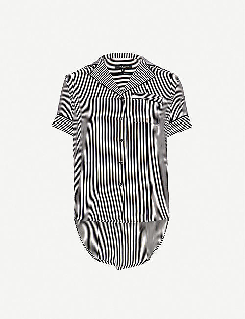 RAG & BONE Luca silk striped pyjama top