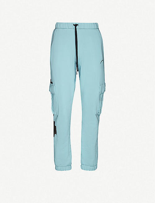 SIBERIA HILLS Graphic-pint cotton-jersey jogging bottoms