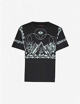 SIBERIA HILLS: Graphic-print cotton-jersey T-shirt