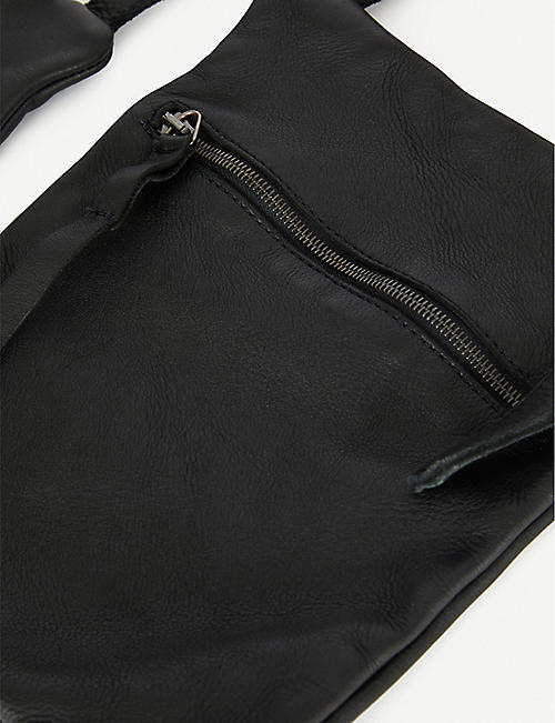 SERIENUMERICA Double leather cross-body bag