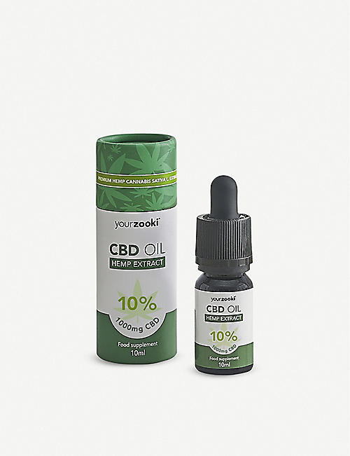 YOURZOOKI:1,000mg 10% CBD 油 10 毫升