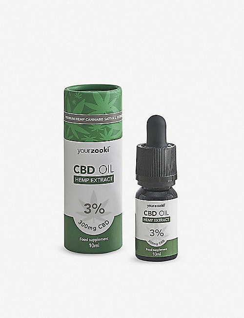 YOURZOOKI 300mg 3% CBD oil 10ml