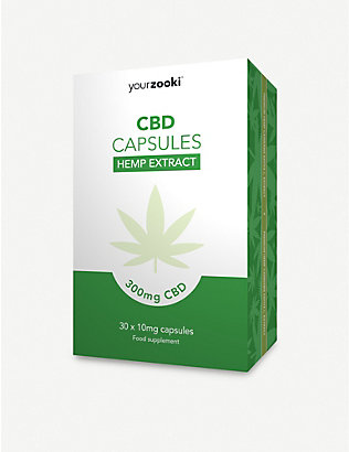 YOURZOOKI: 300mg CBD capsules box of 30