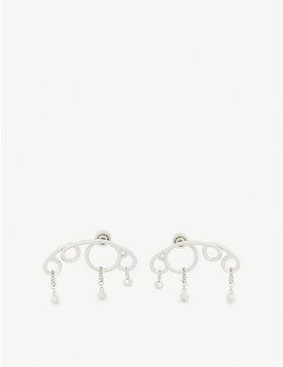 JW ANDERSON: Droplet Swarovski crystal and silver-toned earrings