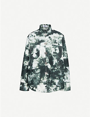 LEO: Abstract-print cotton-blend jacket