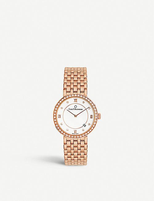 CARL F BUCHERER: Adamavi 00.10307.03.25.31 18ct rose-gold and diamond watch