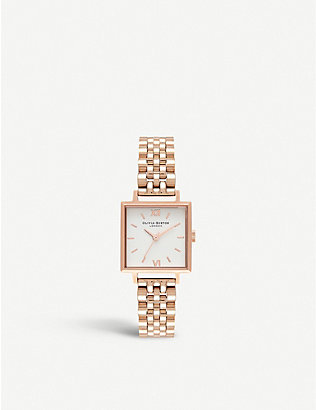 OLIVIA BURTON: OB16SS31 Square Dial stainless steel watch