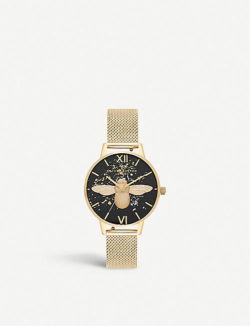OLIVIA BURTON: OB16GD37 Celestial 18ct yellow gold-plated stainless-steel quartz watch