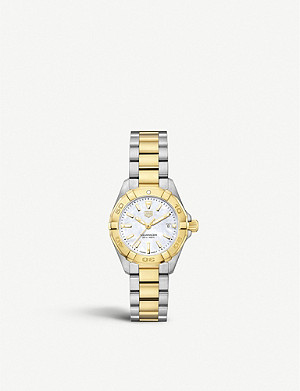 TAG HEUER WBD1420.BB0321 Aquaracer mother-of-pearl and stainless-steel quartz watch