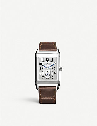 JAEGER-LECOULTRE: Q2438522 Reverso Medium Small Seconds stainless steel and satin watch