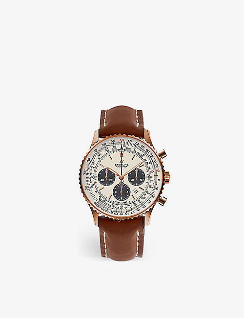 BREITLING: RB0127121G1P1 Navitimer B01 chronograph stainless steel watch