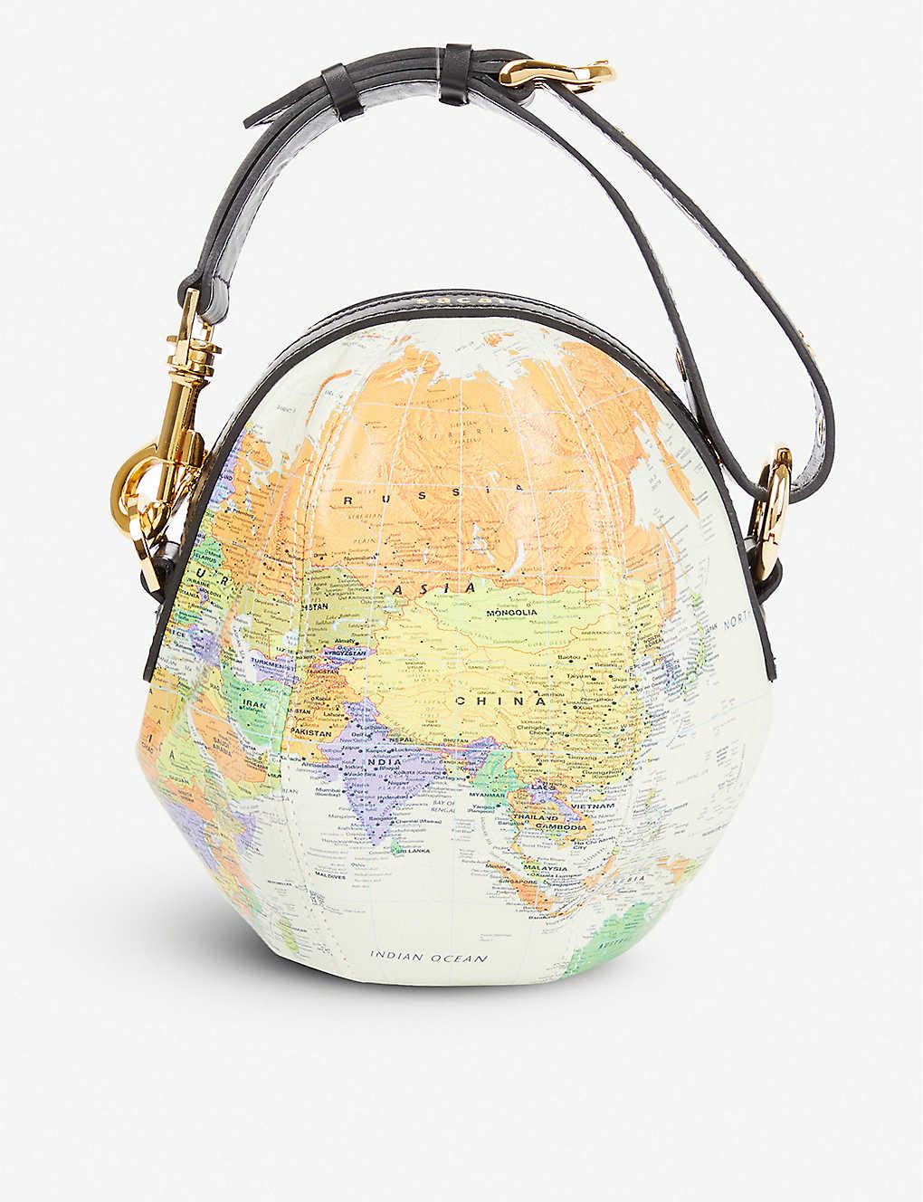 Sacai GLOBE LEATHER SHOULDER BAG
