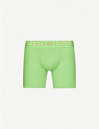VERSACE: Iconic-print stretch-cotton trunks