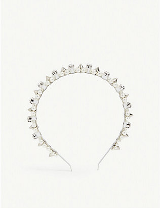 SIMONE ROCHA: Faux-pearl and crystal embellished headband