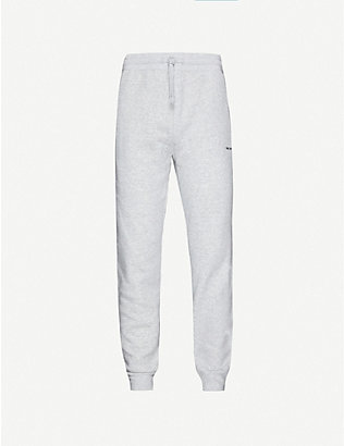 MKI MIYUKI-ZOKU: Brand-print tapered cotton-blend jogging bottoms