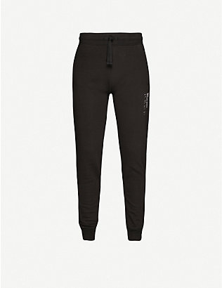 MKI MIYUKI-ZOKU: Brand-print cotton-blend jogging bottoms
