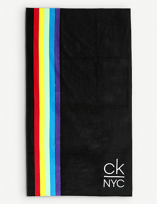 CALVIN KLEIN NYC Pride cotton beach towel