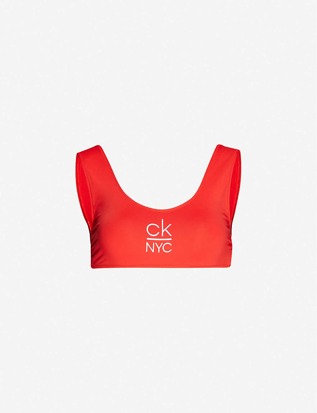 CALVIN KLEIN: CK NYC scoop-neck bikini top