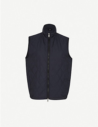 OSCAR JACOBSON: Liner quilted shell gilet