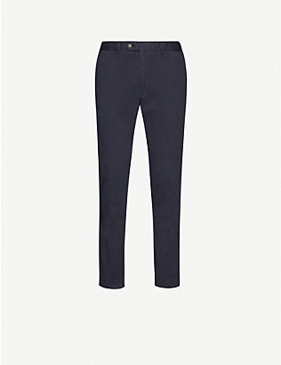 OSCAR JACOBSON: Danwick straight stretch-cotton trousers