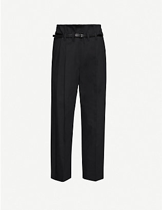 BRUNELLO CUCINELLI: Paper cotton-blend trousers
