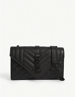 SAINT LAURENT: Small monogram multi quilted satchel bag