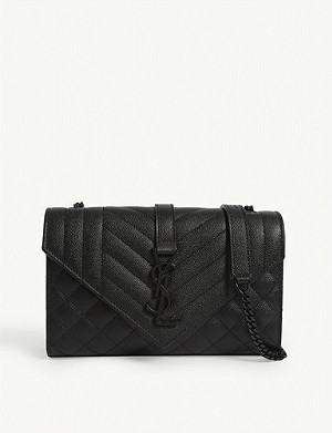 SAINT LAURENT Small monogram multi quilted satchel bag