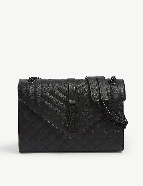 SAINT LAURENT Monogram leather medium satchel