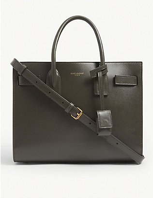 SAINT LAURENT: Baby Sac de Jour leather tote