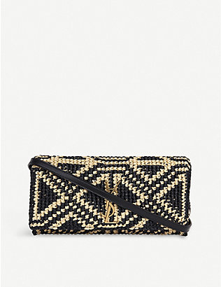 SAINT LAURENT: Kate raffia baguette bag