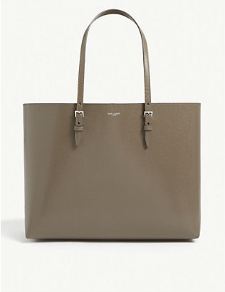 SAINT LAURENT: Buckle leather tote bag