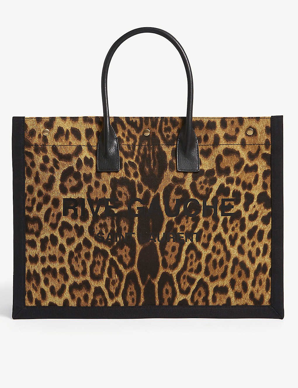 SAINT LAURENT: Rive Gauche cotton tote bag