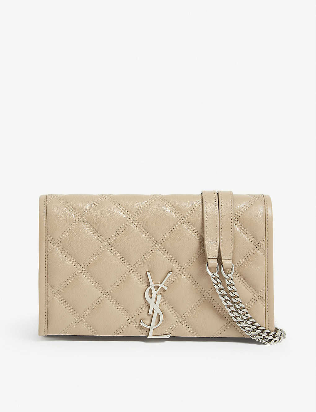 SAINT LAURENT: Becky leather wallet-on-chain