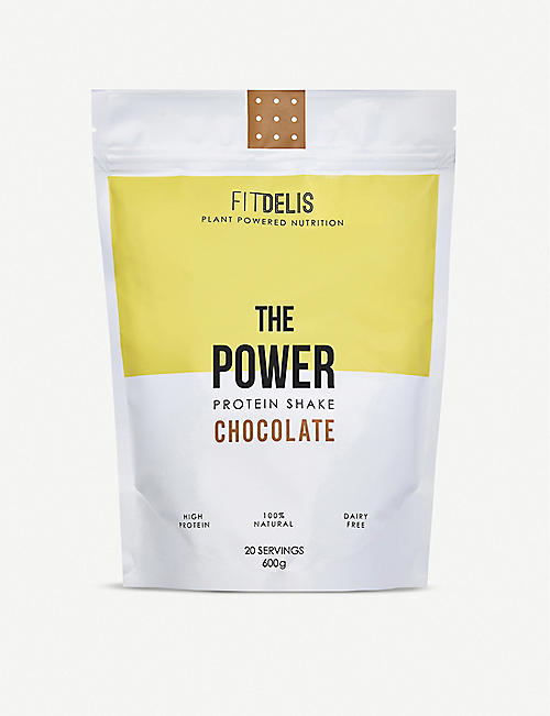 FITDELIS: The Power protein shake chocolate 600g