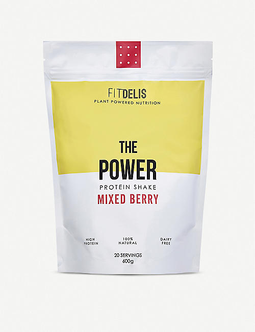 FITDELIS: The Power protein shake mixed berry 600g