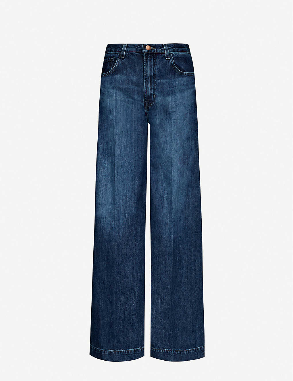 J BRAND: Thelma flared high-rise stretch-denim jeans