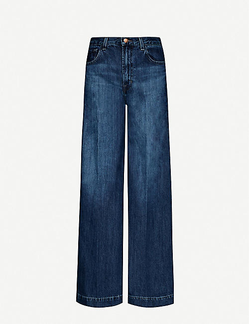 J BRAND Thelma flared high-rise stretch-denim jeans
