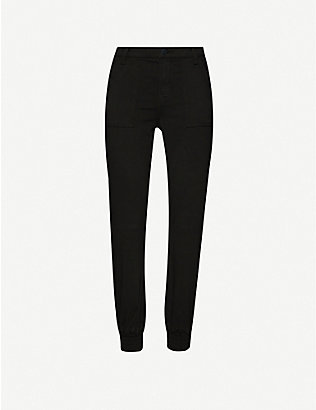 J BRAND: Arkin tapered mid-rise cotton-blend trousers