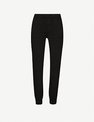 J BRAND Arkin tapered mid-rise cotton-blend trousers