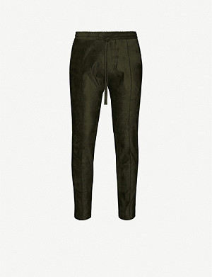 PREVU Geneva tapered faux-suede trousers