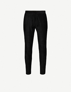 PREVU Geneva faux-suede tapered trousers